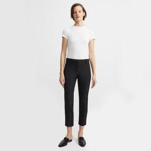 Theory Good Wool Slim Crop Pant Blk Sz 4